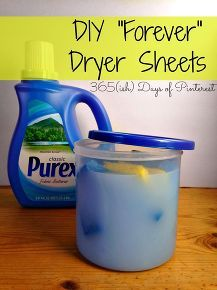 diy forever dryer sheets, cleaning tips  It really works clothes came out soft and smelling good