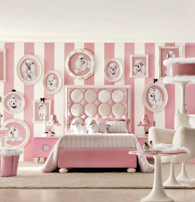 décoration chambre fille rose