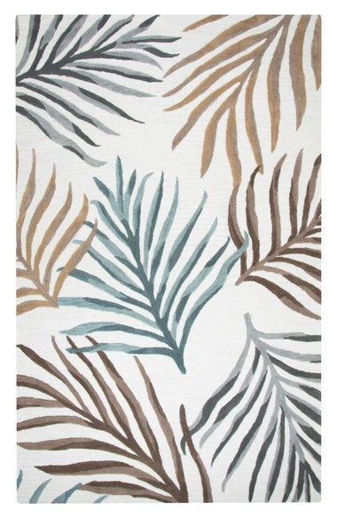 Rizzy Home Palm Hand Tufted Wool Area Rug available at #Nordstrom