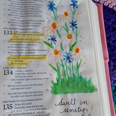 Ann Dreyer Designs bible journaling psalm 133 dwell in unity 2