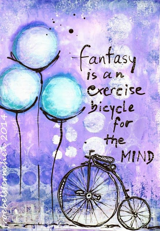 froebelsternchen: FANTASY (2) Art Journal Journey - March 2014