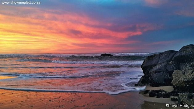 Sunrise on Keurbooms beach. Picture by Sharyn Hodges