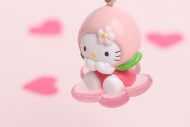 Hello Kitty as a peach | photo by Naoko Miike: Sanrio Hello, Naoko Miik, Gotochi Kitty, Hello Kittay, Kitty Collection, Peaches Hello, Kitty Galor, Hello Kitty, Kitty Accessories