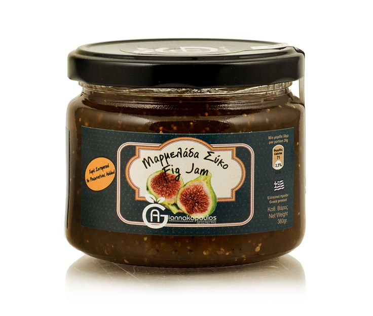 www.deliinabox.gr Jam from the Messinian fig (chapela), produced by homemade recipe and fresh ingredients. A diet rich in vitamins and valuable nutrients for the human body as the fig fruit is full of nutrients and medical benefits. Without preservatives.