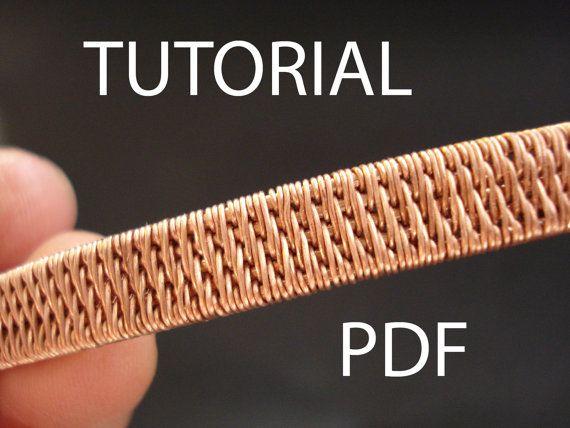 Tutorial PDF tutorial de joyería cable por MargoHandmadeJewelry