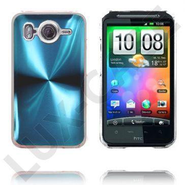 Aluminium Blade - Gjennomsiktig Kant (Lyse Blå) HTC Desire HD Deksel
