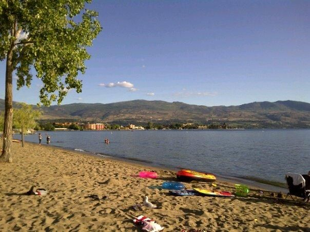 Gyro Beach in Kelowna, BC in the Okanagan. This is one of my favourite places to bring the kids when we are there.