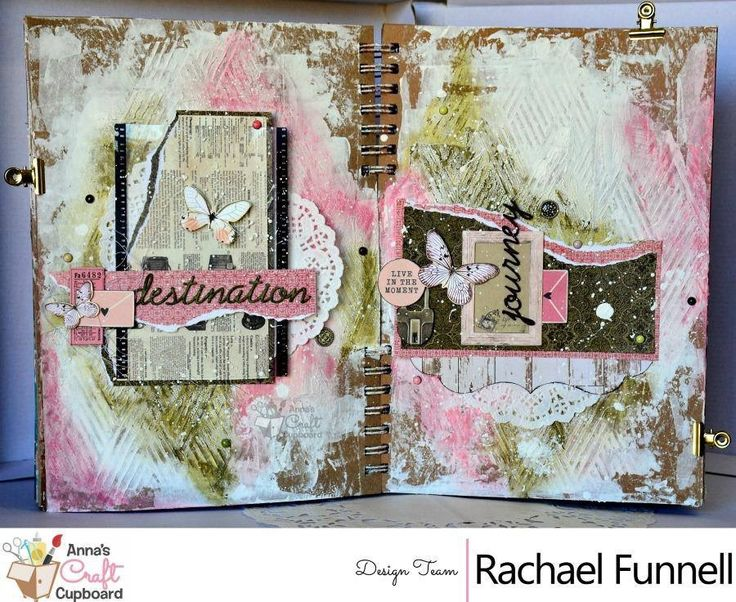 Our Facebook community challenge was created by the very talented Kylie Cornish. Here we have a DT inspiration reveal from Rachael Funnell with this stunning art journal as her take on the challenge Come on over, be inspired, join in on the fun and you could win one of the fabulous prizes on offer!