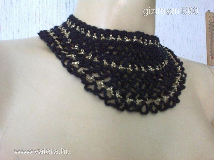 Fekete arany horgolt nyakékszer - 3500 Ft - Nézd meg Te is Vaterán - Nyaklánc - http://www.vatera.hu/item/view/?cod=2363769854