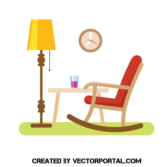 Rocking Chair Vector Clip Art Rocking Chair Chair Clip Art