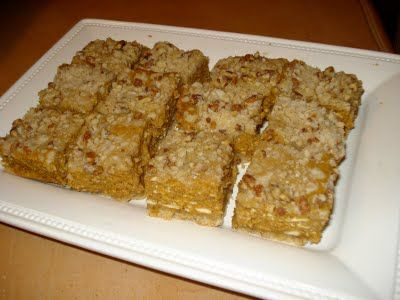 Pumpkin Cheesecake Spice Bars