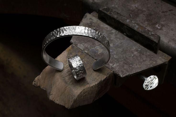 Armreif und Ring Silber
