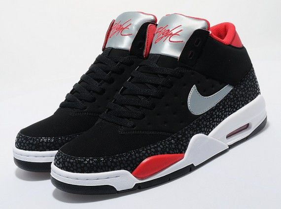 Nike Air Flight Classic – Black – Silver – University Red