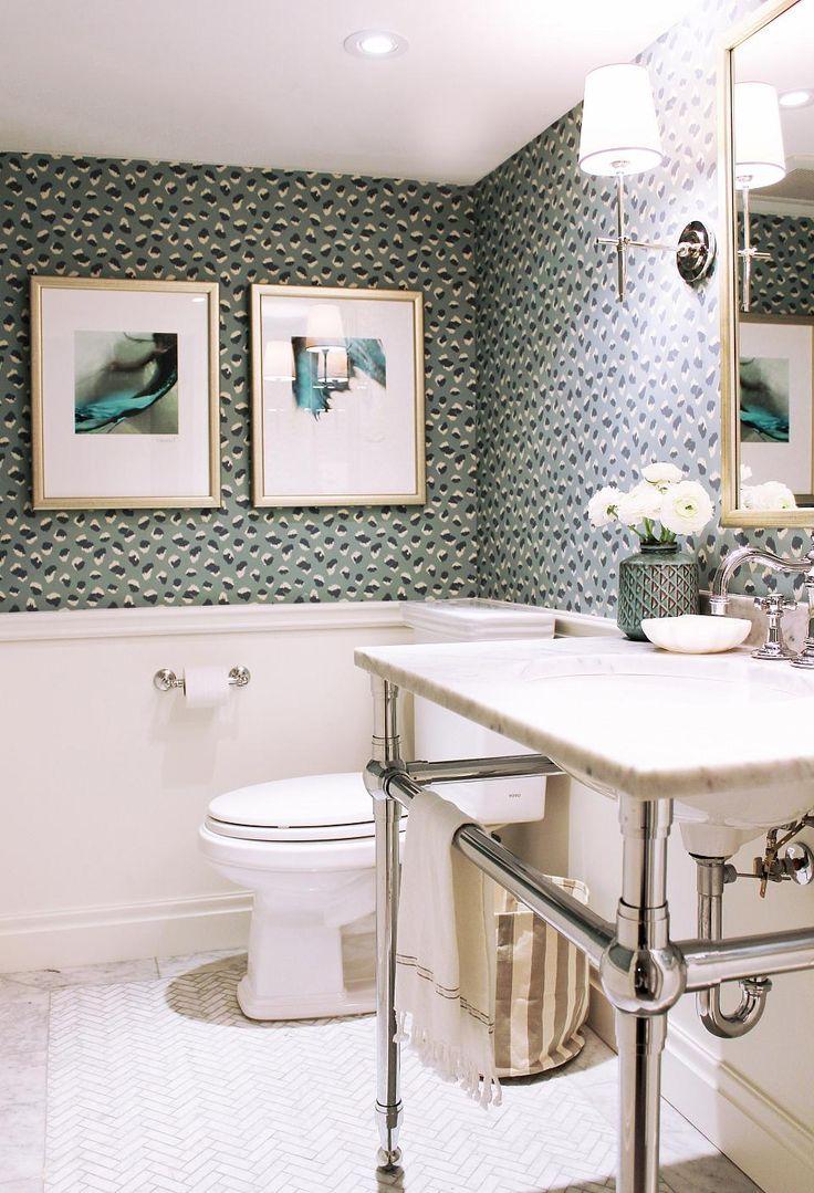 men bathroom tumblr%0A A subterranean bathroom update reveals a stylishly vivid space with main  floor appeal