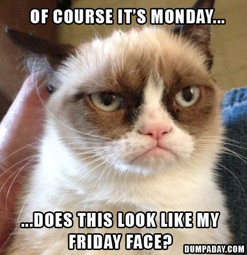 of course its monday, does this look like my friday face (Ajajajaa! You right! :P)