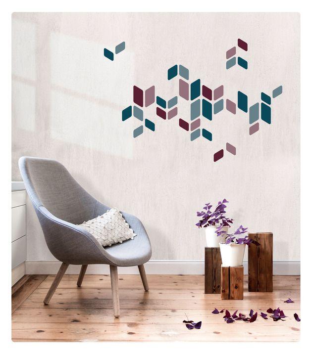 #Wandsticker als #Deko für Wände, Schränke, Türen und Co. in frischen Farben. #Wandtattoo #Design