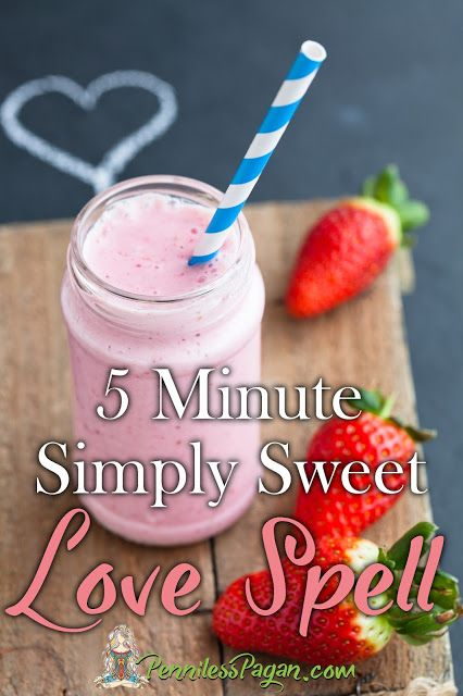 Pinterest Gone Pagan: 5 Minute Simply Sweet Love Spell! PennilessPagan.com…