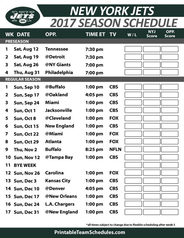 New York Jets Football Schedule 2017  https://www.fanprint.com/licenses/new-york-jets?ref=5750