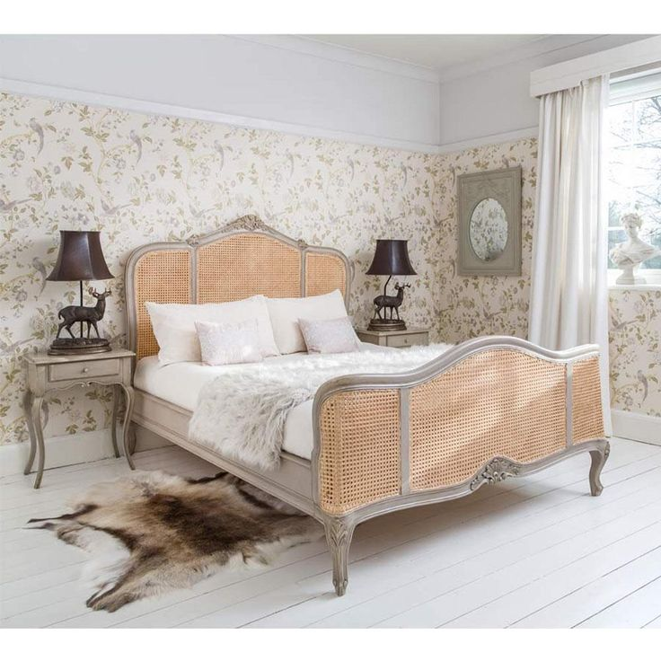 Normandy Rattan Painted French Bed | Luxury Bed