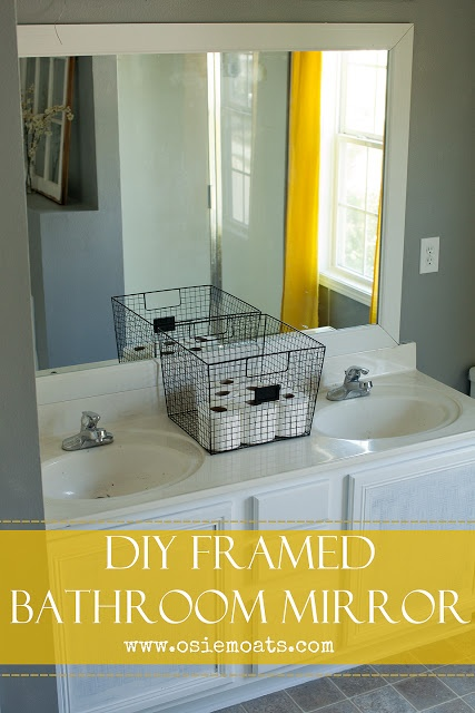 osie moats diy lifestyle decorating blog diy framed bathroom mirror