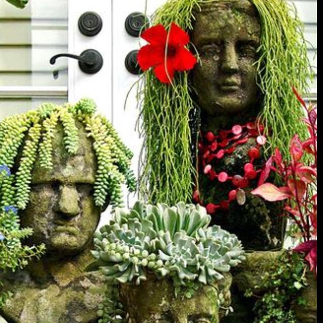 Unusual Container Gardens Creative Gardening Pinterest