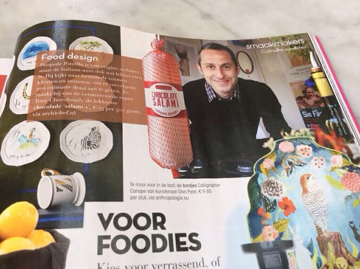 Check it out page 117 Residence magazine, February 2014 #ResidenceNL #TonyChocolonely #archichef #pasqualepontillo #chocolatesalami #fooddesign www.archichef.nl