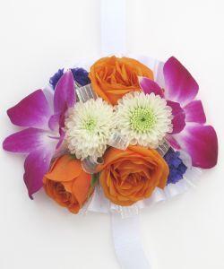 Hallu0027s Flower Shop And Garden Center   Wrist Corsage Bright Colors, Orchids