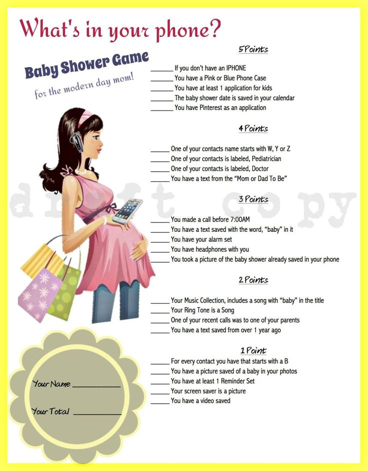 CUSTOM ORDER Whats in your phone Baby Shower Game Phone