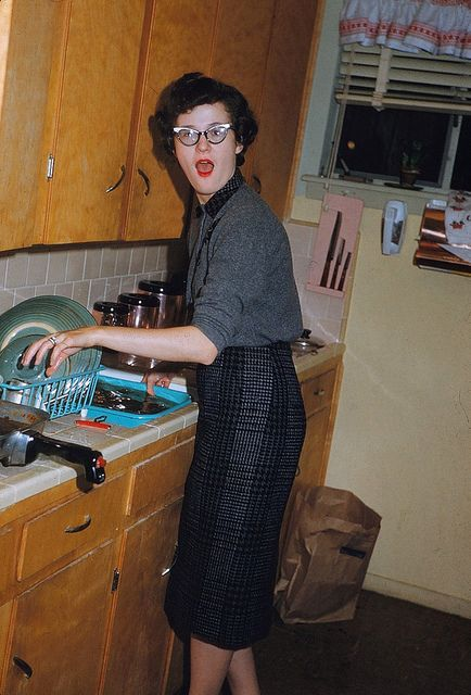 """""""Don't take a picture of me washing dishes!!!"""""""