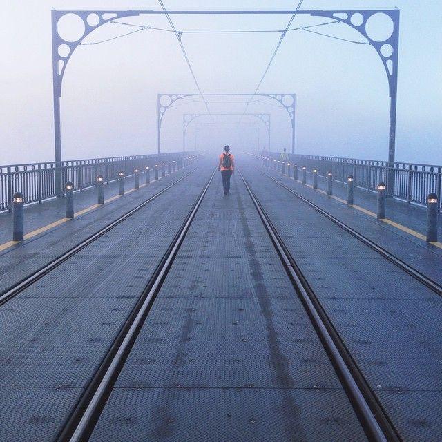 Foggy Dom Luís bridge #instagram #Porto #travel