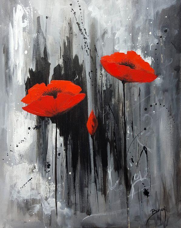 Peace, Love and Hope – Peinture française – Bruni Eric (Peinture), 40×50 cm par Er