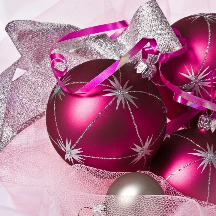 Cute Pink Christmas Ornament Wallpaper | Wallpapers | Pinterest ...