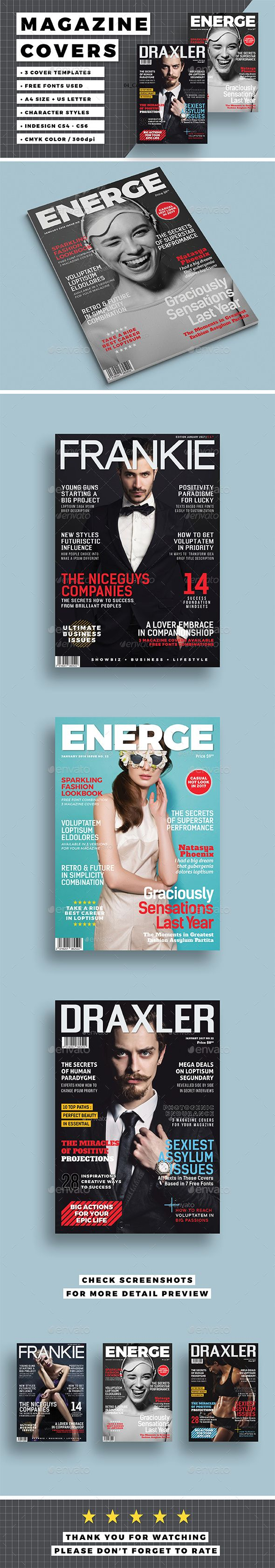 Magazine Cover Template Magazine Cover Template Cover Template