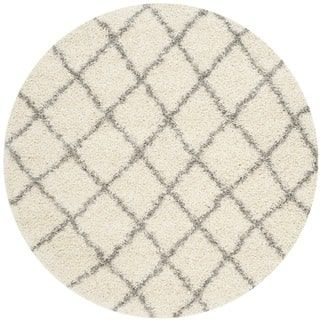 Shop for Safavieh Dallas Shag Ivory/ Grey Trellis Rug (6' Round). Get free shipping at Overstock.com - Your Online Home Decor Outlet Store! Get 5% in rewards with Club O! - 16767539