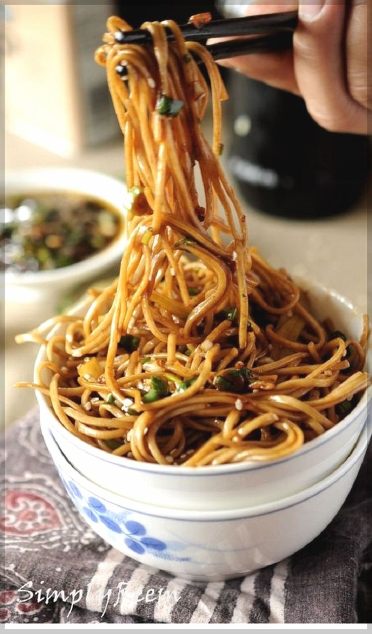Soba Noodles With Sweet Ginger Scallion Sauce | Easy Chinese Recipes