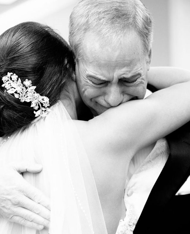 "Still on the fence about whether to do a ""First Look"" with your groom?  Why not do a ""First Look"" with your dad instead?  After all, he was the first man in your life and probably the most influential.  The moment a father sees his little girl in her wedding dress is both emotional and …"
