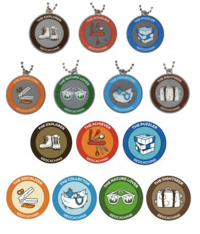 7SofA Travel Tag & Patch Set: All 14 $54.00 USD Did you complete them all? Then buy all 7 Travel Tags AND all 7 Patches AND SAVE! During the 7 Souvenirs of August celebration, we want people to celebrate the many types of geocaches and geocachers. You may be a Nature Lover, a Socializer, an Explorer, a Collector, a Puzzler, or a Sightseer. No matter who you are, you can collect all of the souvenirs. Once you get all 6, you are also an Achiever!