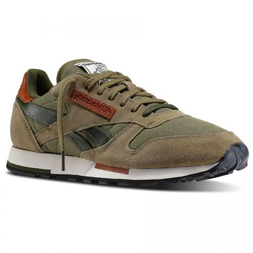 Reebok - CL Leather Utility (V55387) Cargo / Green / Sandtrap