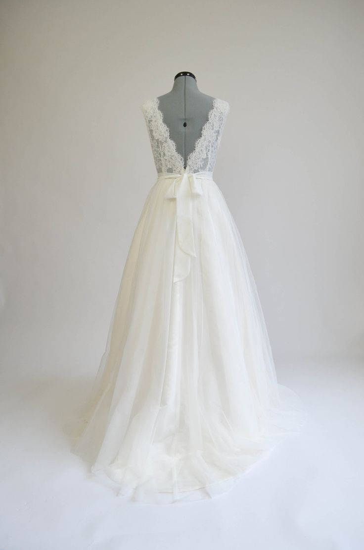 Lace wedding dress wedding dress bridal gown by ELDesignStudio, $399.99