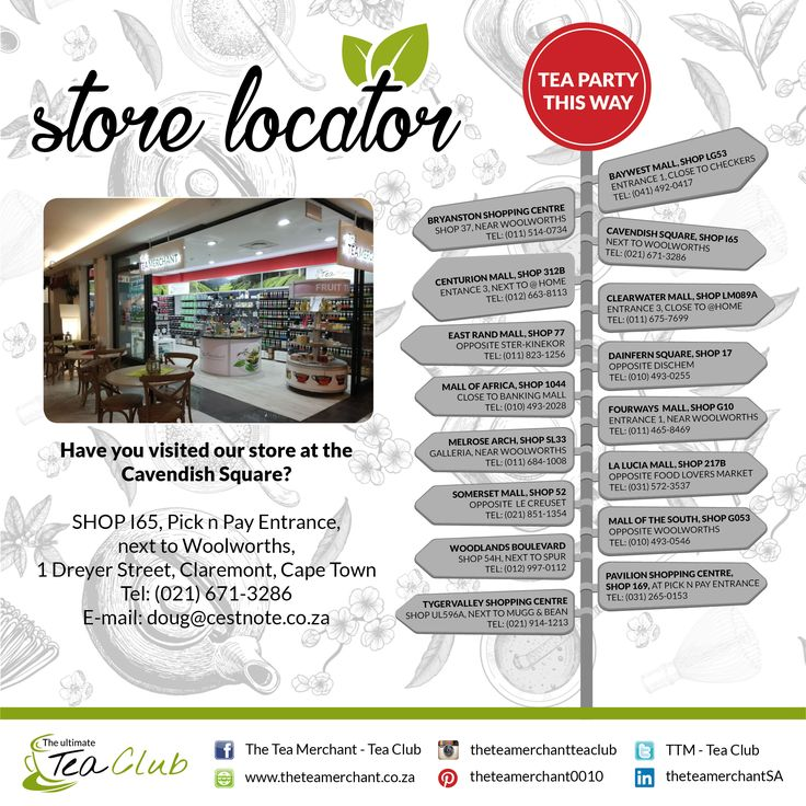 Did you know we have stores country wide? Please see which store is nearest to you for the ultimate tea experience. #cavendish
