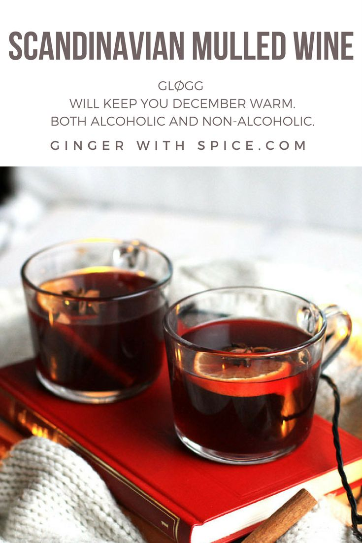 Hot mulled wine to keep you warm in the cold month of December. This is both alcoholic and non-alcholic, equally delicious!