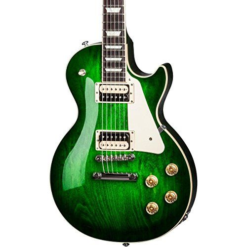 Gibson USA Les Paul Classic T 2017 Electric Guitar, Green Ocean Burst * Want additional info? Click on the image.