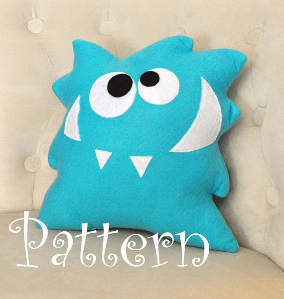 Monster Plush Pattern PDF Tutorial and Printable Templates -Nom Nom Monster…