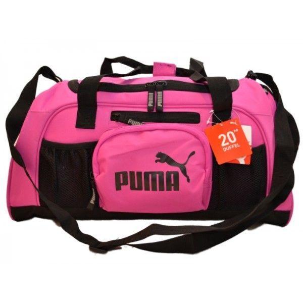 """NWT PUMA SPORT LIFESTYLE 20"""" Pink/Black Accelerator Duffel Gym Bag Luggage  #Puma #ebay #Puma #SportLifestyle20 #GymBag"""