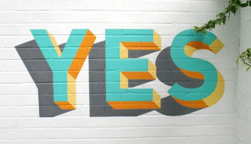 visualgraphc: YES by Russell Hardman on the Southbank Centre...