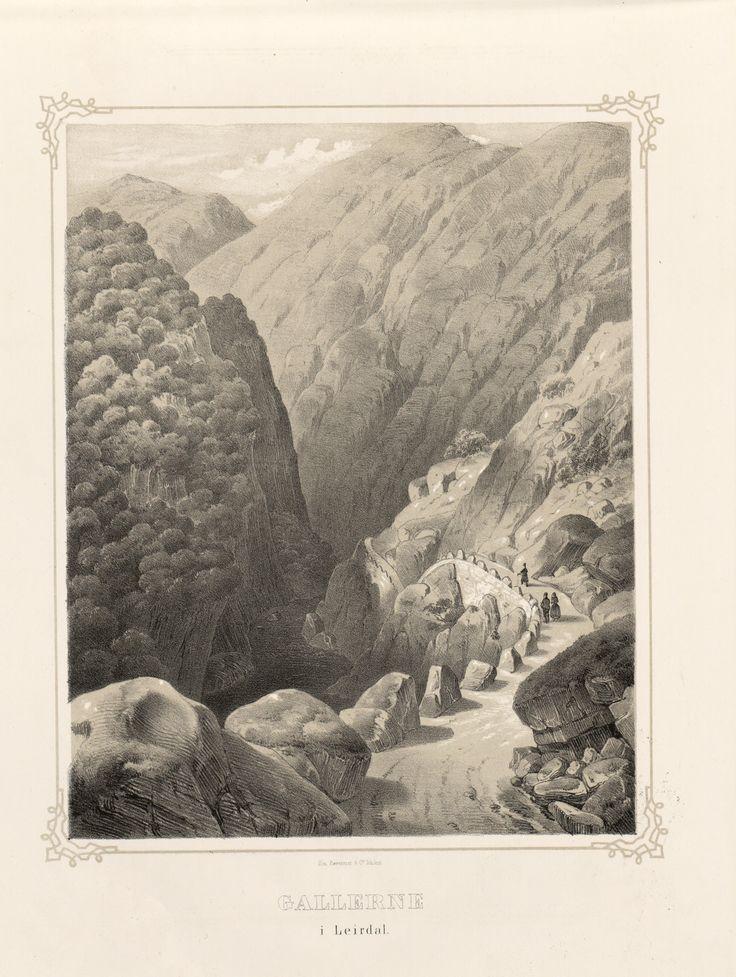 Norge fremstillet i Tegninger - Ukjent - Gallerne i Leirdal. jpg (3688×4896)
