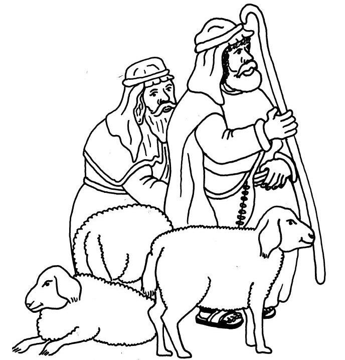 Shepherds And Angels Coloring Pages