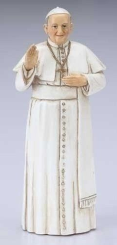 4 Pope Francis Figurine with Prayer Card and Bio The Pope of the People