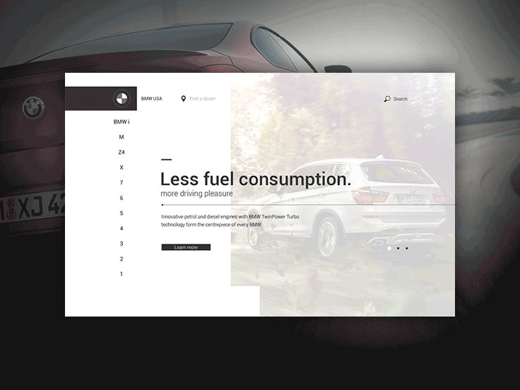 BMW USA - First screen animation by Anton Skvortsov