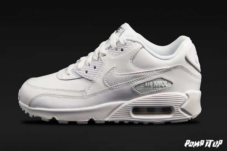 Nike Air Max 90 LTR (WHITE/WHITE-COOL GREY) For Children  Sizes: 35 to 40 EUR Price: CHF 130.- #Nike #AirMax90LTR #AirMax90 #AirMax #Sneakers #SneakersAddict #PompItUp #PompItUpShop #PompItUpCommunity #Switzerland